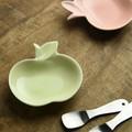 深山 apple りんご豆小皿 ヒワ/green[日本製/美濃焼/洋食器]