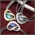 【イタリア】天然石とデザインメタルのチョーカーネックレス【3色】