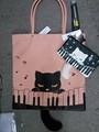 猫のぷーちゃん シッポ付き平トート ピアノ音楽バージョン