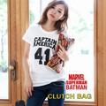 【当社生産 国内ライセンス】MARVEL  バットマン vs スーパーマン クラッチバッグ 鞄 ディズニー アイアン