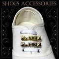 新商品!スニーカーの靴ひもに通して一気に華やかなシューズアクセサリー☆。+スタッズ