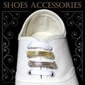 新商品!スニーカーの靴ひもに通して一気に華やかなシューズアクセサリー☆。+3連プレート