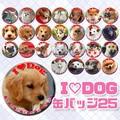 【缶バッジ】缶バッジ アイラブドッグ 25種アソート アニマル 犬 景品 雑貨 ペット ショップ