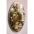 大型鏡【壁掛けミラー/姿見ミラー】アンティーク(幅広面磨き加工)オーバル型