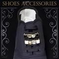 新商品!スニーカーの靴ひもに通して華やかなシューズアクセサリー☆。+4粒石