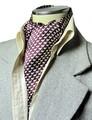 【フォーマル】エレガント袋縫いリトルドルフィン柄メンズ用100%シルクスカーフ 1139