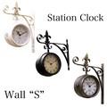 【壁掛両面時計】ステーションクロック[ウォール(S)]