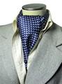 エレガント袋縫いリトルドルフィン柄メンズ用100%シルクスカーフ 1138