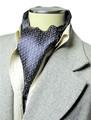 エレガント袋縫いエスニックチェーン柄メンズ用100%シルクスカーフ 1119
