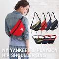 【当社生産 国内ライセンス】ヤンキース ヒップバッグ&ショルダー バッグ ねこ