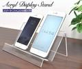 【店舗・ディスプレイ用品】ケースの展示などに スマートフォン用アクリルディスプレイスタンド 2台用