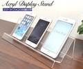 【店舗・ディスプレイ用品】ケースの展示などに スマートフォン用アクリルディスプレイスタンド 3台用