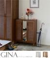【送料無料】GINA(ジーナ)シューズボックス&ストッカー(75cm幅)WH/LBR