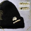 新商品!帽子等に付けても華やかなブローチ☆。+