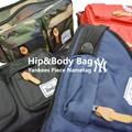 【当社生産 国内ライセンス】ヤンキース ヒップバッグ&ボディバッグ ウエストバッグ ねこ 防水 バラ