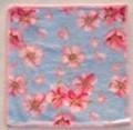 【新柄】フェイラータオルハンカチ Cherry Blossom BLUE