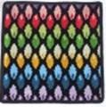 【新柄】 フェイラータオルハンカチ Rainbow Drop BLACK