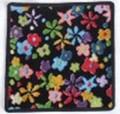 フェイラータオルハンカチ Rainbow Blossom BLACK