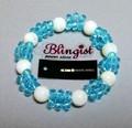☆Blingist Brace ホワイトシェル10mm玉パワーストーンブレス