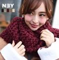 【SALE】◆ざっくりと編み上げた表情豊かなスヌードマフラー◆422117