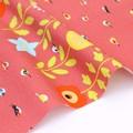 KOTORITACHI オックス生地 野鳥 ピンク 【生地】【小鳥】【動物】