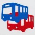 アイロン接着フェルト/ワッペンフェルト大/バス【ハンドメイド】