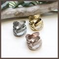 【イタリア】デザインメタルのリング【3色】