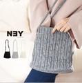 ◆ケーブルニットショルダーバッグ/ポシェット/鞄/小物/雑貨◆422197