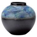 【信楽焼】沖之絵 丸 花瓶
