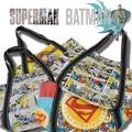 【当社生産 国内ライセンス】バットマン スーパーマントートバッグ カバン 鞄 バットマン vs スーパーマン