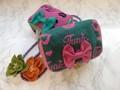 【Xmasセール】ルナルージュのリボンバニティ【くちびるモチーフ/ジャガード織り/オリジナル素材】