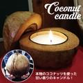 ☆再入荷☆ 天然のヤシの実がまるまる1個キャンドルに♪【ココナッツキャンドル】!!