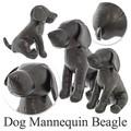 【今週のオススメ】ドッグマネキン ビーグル(ブラック)2サイズ レザー ぬいぐるみ ディスプレイ小型犬