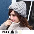 【SALE】◆[ウール混]ざっくり編みデザインニット帽/帽子/ビーニー/キャップ/雑貨◆422105