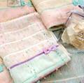 【Petit Fete】リボンのついたフェミニンハンカチ&フェイス&ウォッシュタオル ポプリ