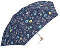 【SALE】2016SS★PUコーティングs★晴雨兼用折りたたみ傘【北欧フラワー】50cm日本式ミニ