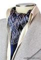 エレガント袋縫いエスニックペーズリー柄メンズ用100%シルクスカーフ 1101