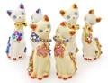【風水 開運 雑貨】ペアねこ 金運 招き猫 インバウンド 日本 お土産 和雑貨 ネコ 置物 まねきねこ