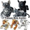 【タイガー】【あったかグッズ】テッシュボックスカバー トラ ネコ 黒猫リアル  虎 インテリア ぬいぐるみ