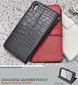<スマホケース>Xperia Z5 Premium SO-03H用クロコダイルスタンドケースポーチ