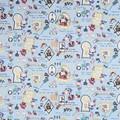 センチメンタルサーカス オックス生地てまねき影絵のアリス ブルー【生地】【キャラクター】