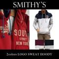 ★大特価★SMITHY'S スミス メンズ 裏起毛 バイカラー フードスウェットパーカー<2col>