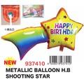 【バースデー お誕生日】メタリックバルーンHBシューティングスター デコレーション 飾りつけ パーティー