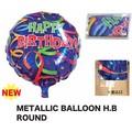 【バースデー お誕生日】メタリックバルーンHBラウンド デコレーション 飾りつけ パーティー