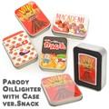 【4種】パロディお菓子オイルライター 缶ケース入り パッケージパロディ たばこ 煙草 喫煙 ジッポ型