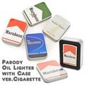 【4種】パロディタバコオイルライター 缶ケース入り パッケージパロディ たばこ 煙草 喫煙 ジッポ型