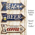 アンティークエンボスプレート[Beach/Beer/Coffee]