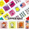 【新柄入荷 アメ雑】Zipper Bag 6種 ジッパーバッグ お菓子入れ ジップロック 保管 袋