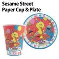 【アメ雑】セサミストリートペーパーカップ&プレート 紙コップ 紙皿 エルモ かわいい