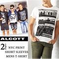 ☆夏物最終処分特集☆ALCOTT アルコット メンズ NYCプリント Tシャツ<ラスト1点>